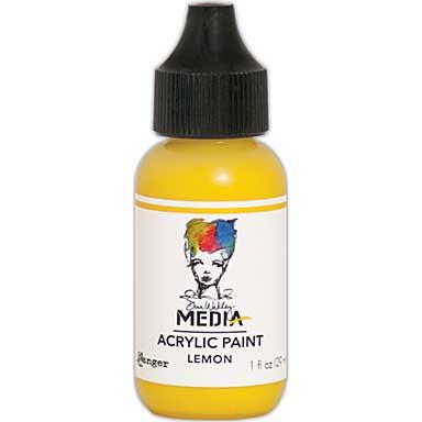 SO: Dina Wakley Media Acrylic Paint 1oz - Lemon
