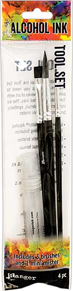 Tim Holtz Alcohol Ink Tool Set (Includes 3 Brushes & Mini Mister)