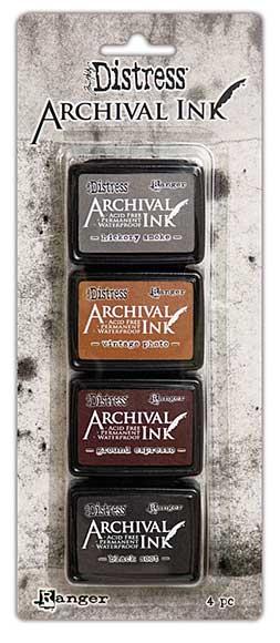 SO: Tim Holtz Distress Archival Mini Ink Set - Kit 3