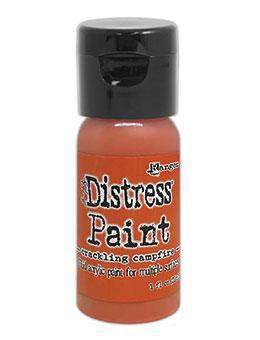 NEW Tim Holtz Distress Paint Flip Top 1oz - Crackling Campfire (SEP20)