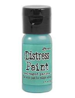 NEW Tim Holtz Distress Paint Flip Top 1oz - Salvaged Patina (MAY 2021)