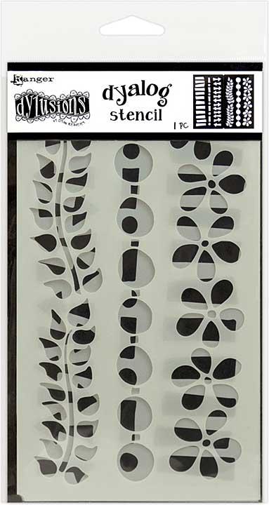 Dyan Reaveley\'s Dylusions Dyalog Stencil - Border It