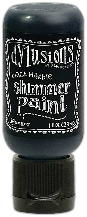 Dylusions Shimmer Paint 1oz - Black Marble