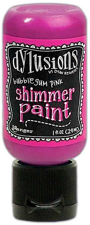 Dylusions Shimmer Paint 1oz - Bubblegum Pink