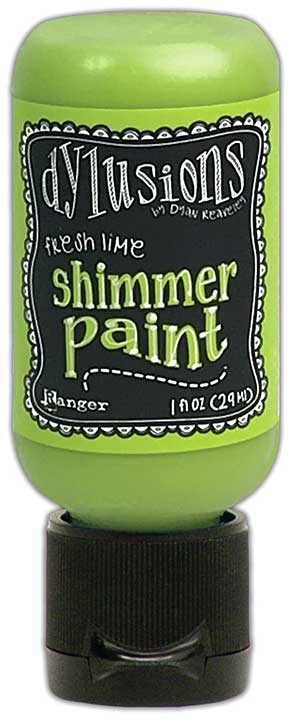 Dylusions Shimmer Paint 1oz - Fresh Lime