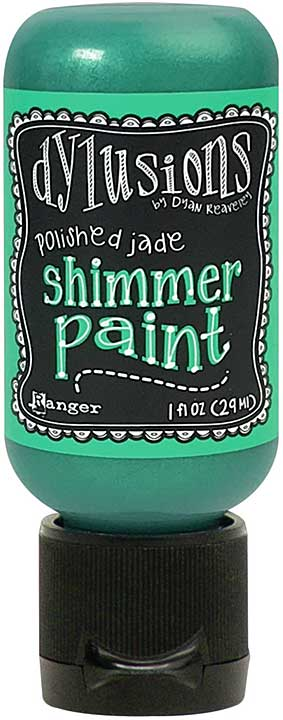 Dylusions Shimmer Paint 1oz - Polished Jade
