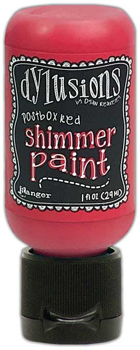 Dylusions Shimmer Paint 1oz - Postbox Red
