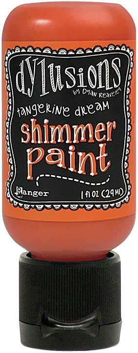 Dylusions Shimmer Paint 1oz - Tangerine Dream