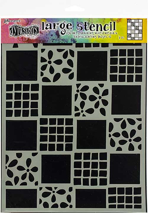 Dyan Reaveley\'s Dylusions Stencils 9x12 - Square Dance