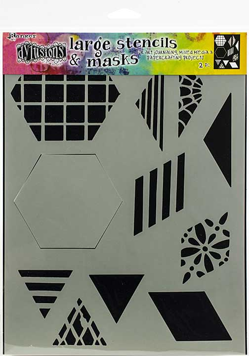 Dyan Reaveley\'s Dylusions Stencils 9x12 - 2 Quilt