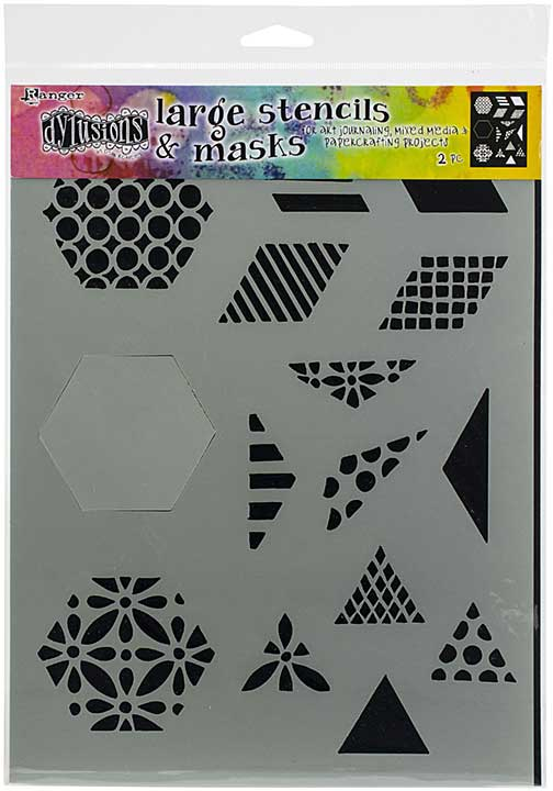 Dyan Reaveley\'s Dylusions Stencils 9x12 - 1.5 Quilt