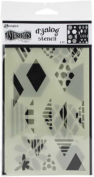 Dyan Reaveley\'s Dylusions Dyalog Stencil - Quilt It