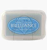 Brilliance Pigment Inkpad - Pearlescent Sky Blue