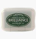 Brilliance Pigment Inkpad - Pearlescent Ivy