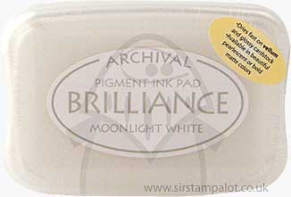 Brilliance Pigment Inkpad - Moonlight White