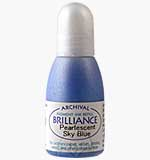Brilliance Pad Pigment Ink Refill - Pearlescent Sky Blue