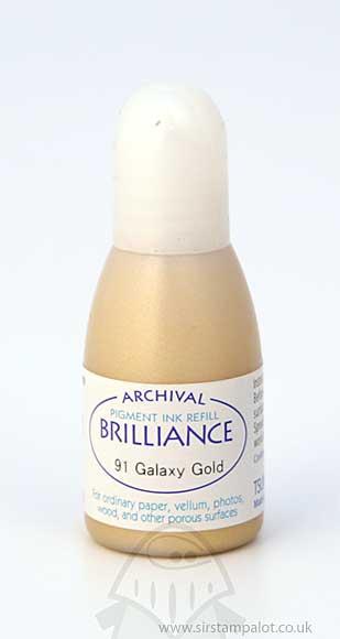 SO: Brilliance Pad Pigment Ink Refill - Galaxy Gold
