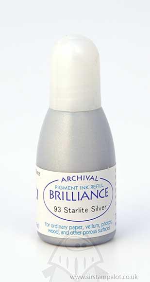 SO: Brilliance Pad Pigment Ink Refill - Starlite Silver