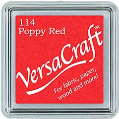 SO: VersaCraft Fabric - Small Ink Pad - Poppy Red