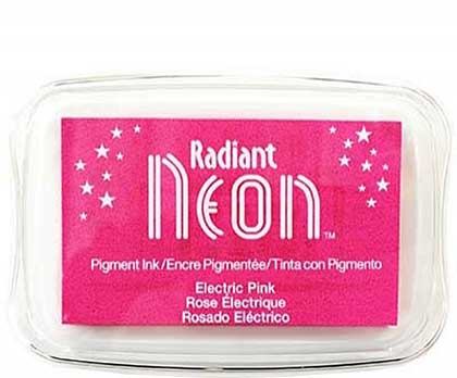Radiant Neon Ink Pad Electric Pink