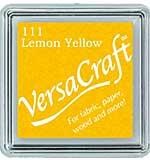 VersaCraft Fabric - Small Ink Pad - Lemon Yellow