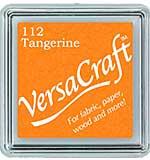 VersaCraft Fabric - Small Ink Pad - Tangerine