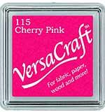 VersaCraft Fabric - Small Ink Pad - Cherry Pink