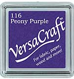 VersaCraft Fabric - Small Ink Pad - Peony Purple