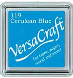 SO: VersaCraft Fabric - Small Ink Pad - Cerulean Blue