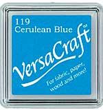 SO: VersaCraft Fabric - Small Ink Pad - Cerulean Blue