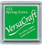 VersaCraft Fabric - Small Ink Pad - Spring Green