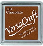 VersaCraft Fabric - Small Ink Pad - Chocolate