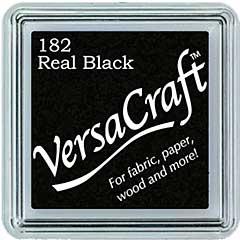 VersaCraft Fabric - Small Ink Pad - Real Black