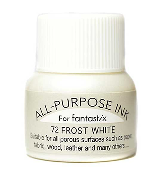 Tsukineko All Purpose Metallic Ink - Frost White