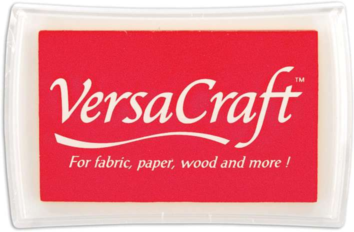 Tsukineko Versacraft Ink Pad, Poppy Red (Large for Fabric and Wood)