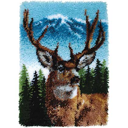 SO: Wonderart Classic Latch Hook Kit - Deer (20 x 30 inches)