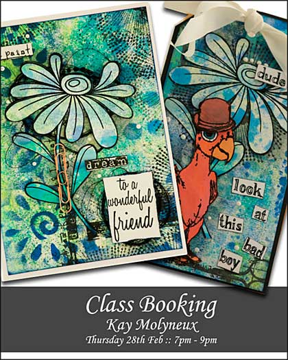 CLASS 2802 - Backgrounds into Cards with Kay