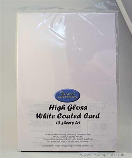 SO: A4 High Gloss White Coated Card (10 sheets)
