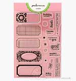 Paula Pascual Clear Stamps - Punchable Labels