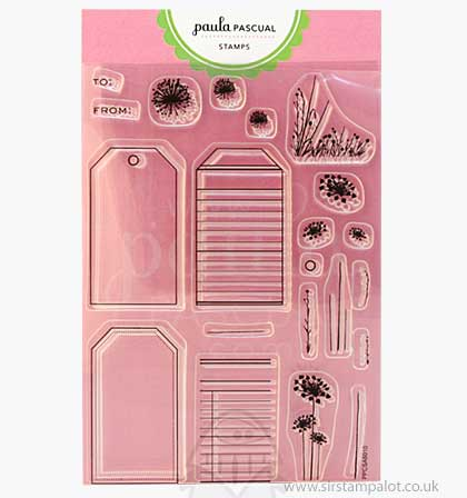Paula Pascual Clear Stamps - Punchable Tags