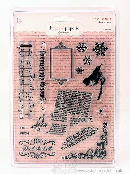 SO: The Girls Paperie - Clear Stamps - Tinsel and Twig