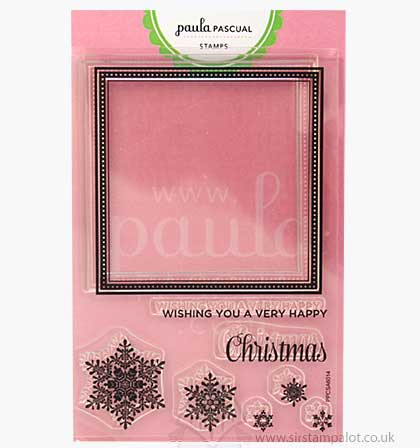 Paula Pascual Clear Stamps - Christmas Frame