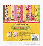SO: BC 6x6 Glitter Paper Pad - Candy Shop