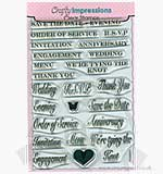 SO: Crafty Impressions Clear Stamps set - Wedding Sentiments