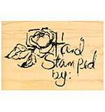 Rose Hand Stamped By