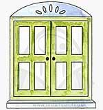 Closed Arched Window Front