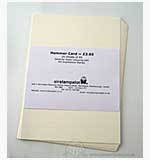 Hammer Card - 25 x A5 Sheets - Cream