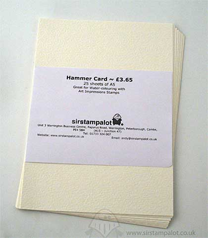 Hammer Card - 25 x A5 Sheets - Cream