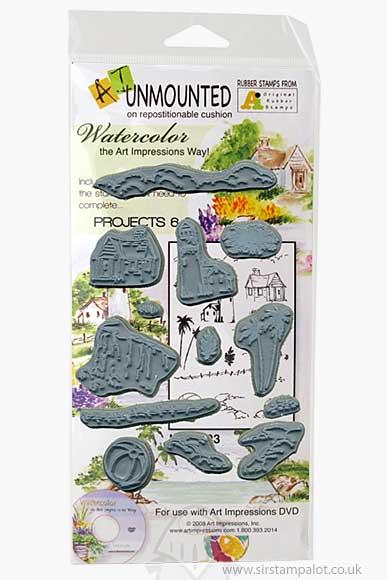 AI EZ Mount - Watercolour Projects 6-8 (pre-cut stamps)