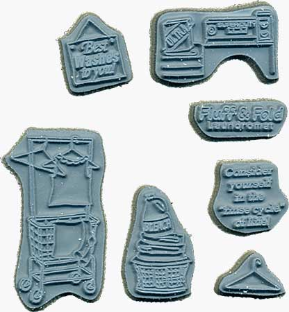 Door Ways - Unmounted Stamps - Fluff and Fold (Laundry) Shoppe